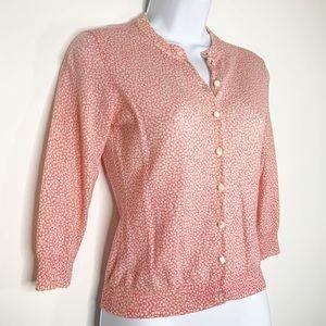 J. CREW Women's Cardigan Pink Flower Print Size S
